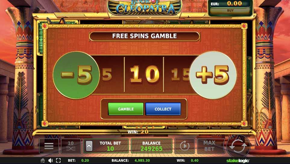 Book Cleopatra Bonus Gamble
