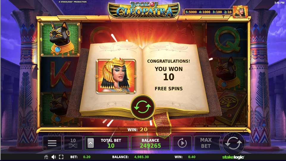 Book Cleopatra Bonus Start