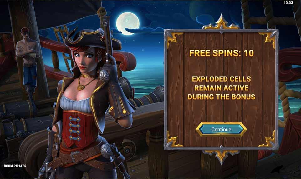Boom Pirates Bonus Start