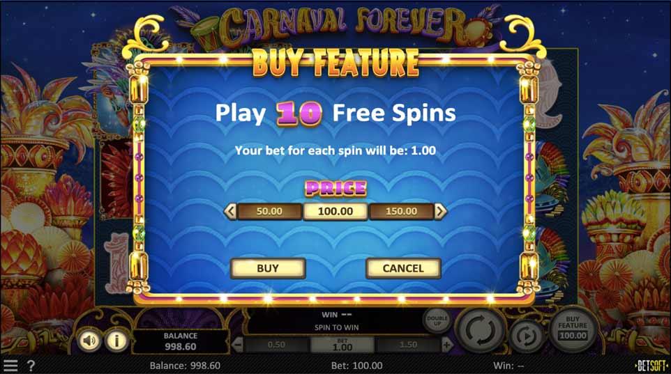 Carnaval Forever Bonus Buy