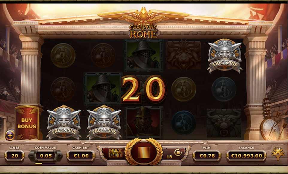 Champions Rome Bonus Activated