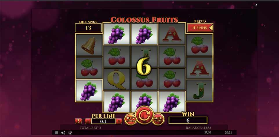 Colossus Fruits Bonus Play