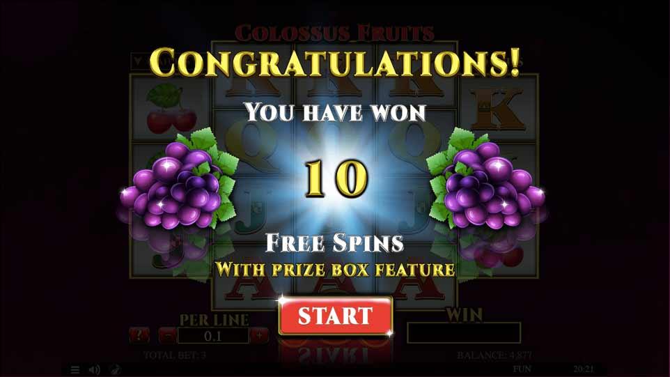 Colossus Fruits Bonus Start