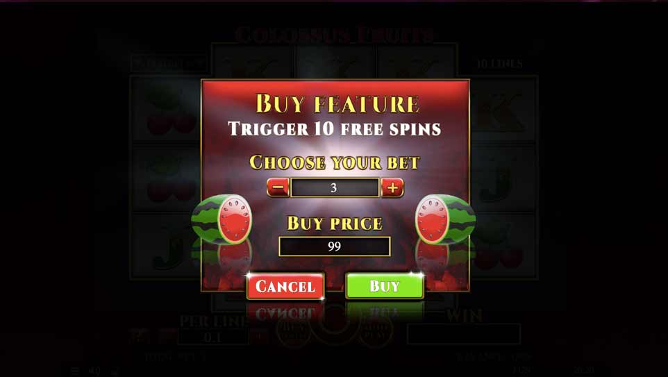 Colossus Fruits Buy Bonus