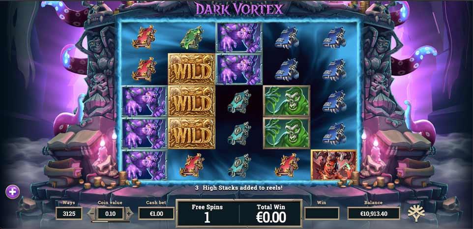Dark Vortex Bonus Play