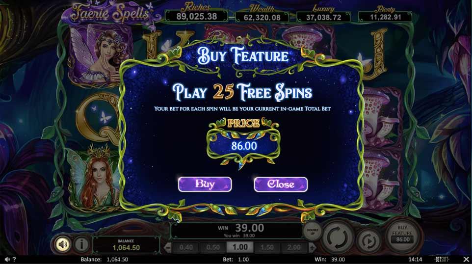Faerie Spells Buy Bonus