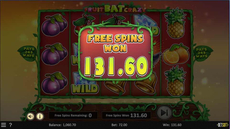 Fruit Bat Bonus End