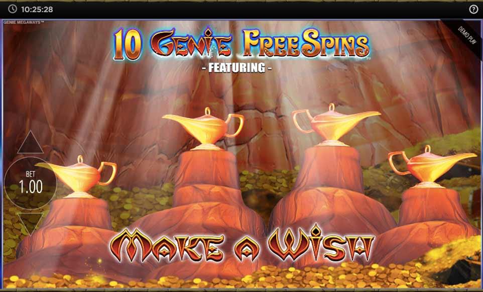 Genie Jackpots Bonus Choice
