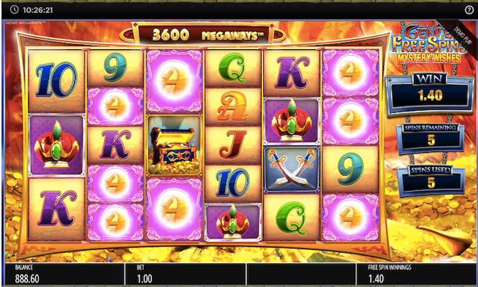 Genie Jackpots Bonus Play