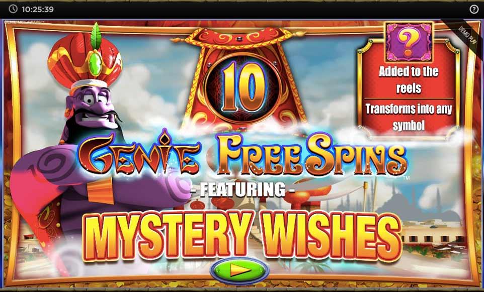 Genie Jackpots Bonus Start