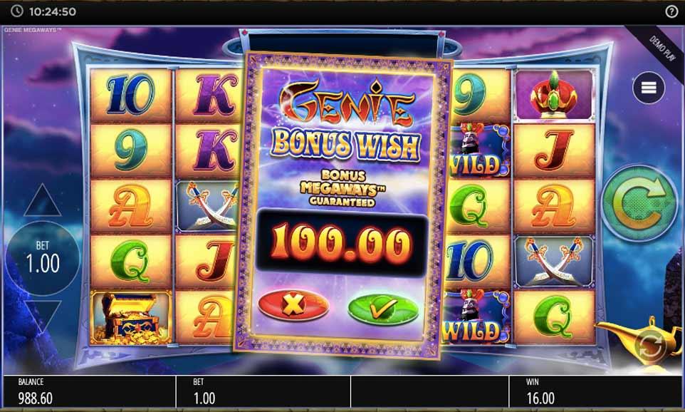 Genie Jackpots Buy Bonus