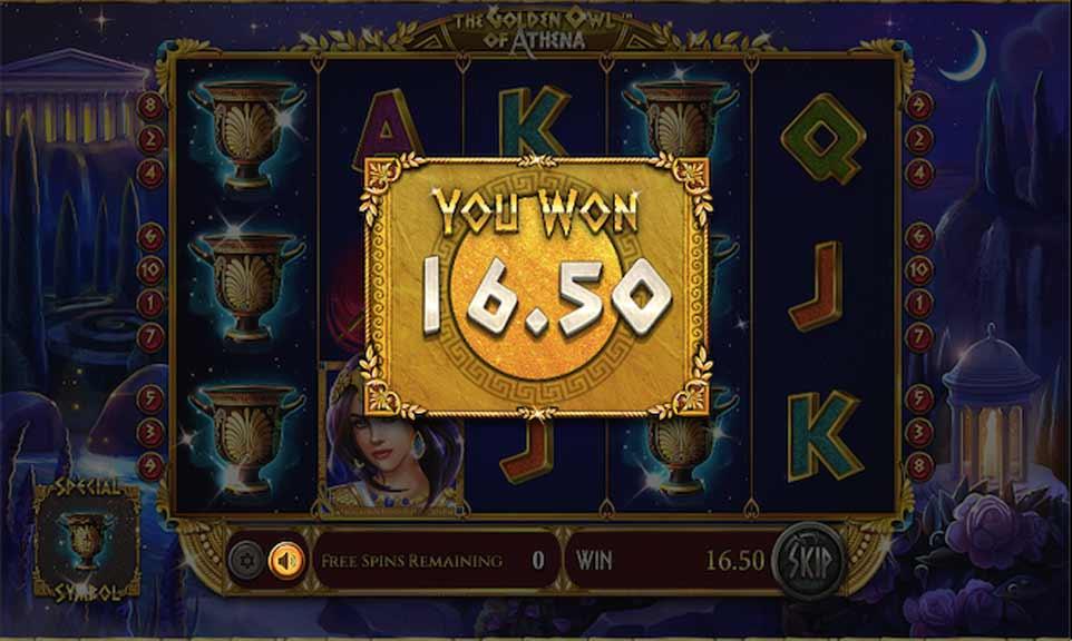 Golden Owl Bonus Win