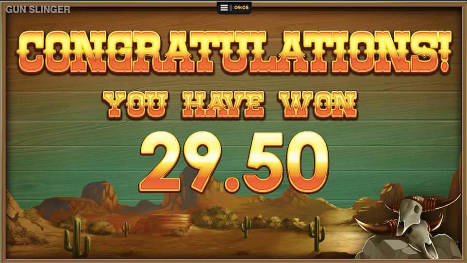 Gunslinger Bonus Win