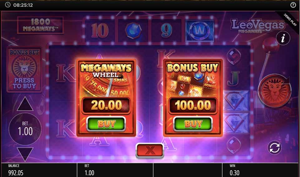 Leovegas Megaways Buy Bonus