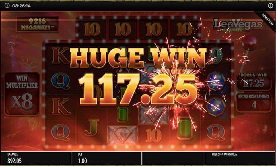 Leovegas Megaways Bonus Win