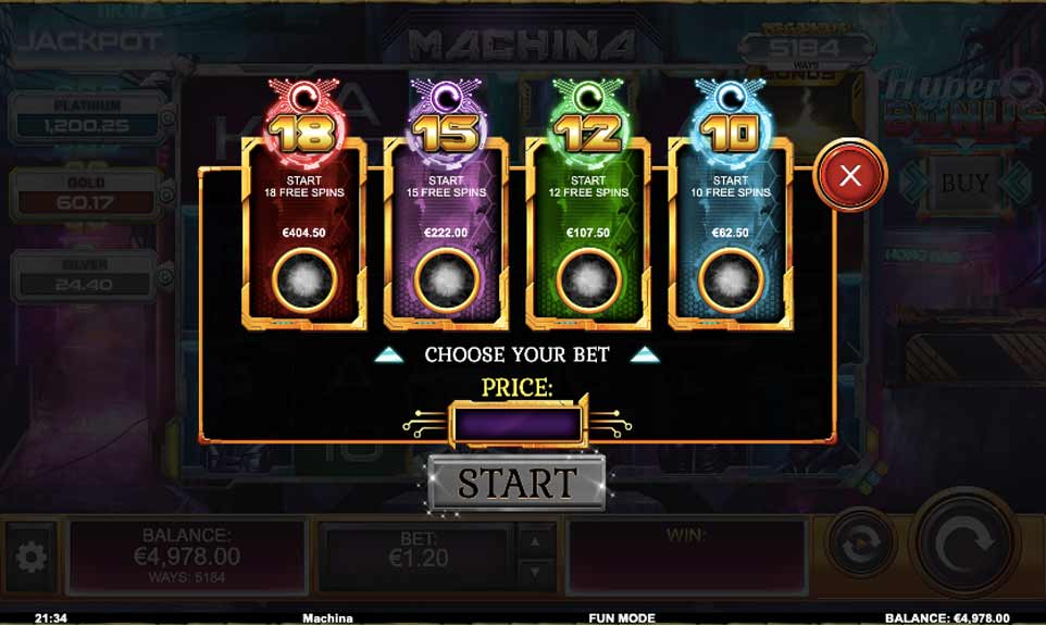 Machina Megaways Buy Bonus