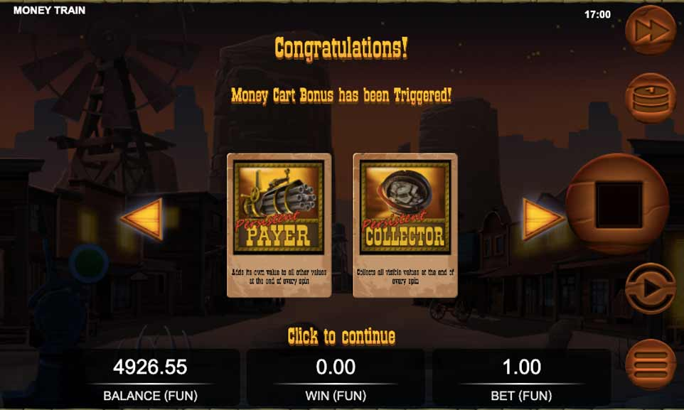 Money Train Bonus Start