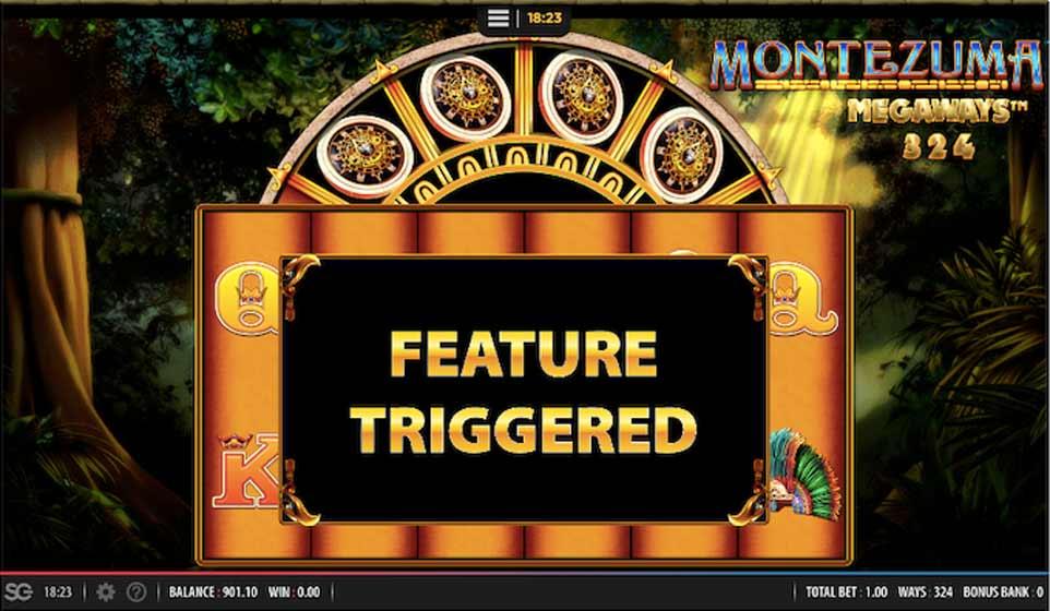 Montezuma Megaways Bonus Triggered
