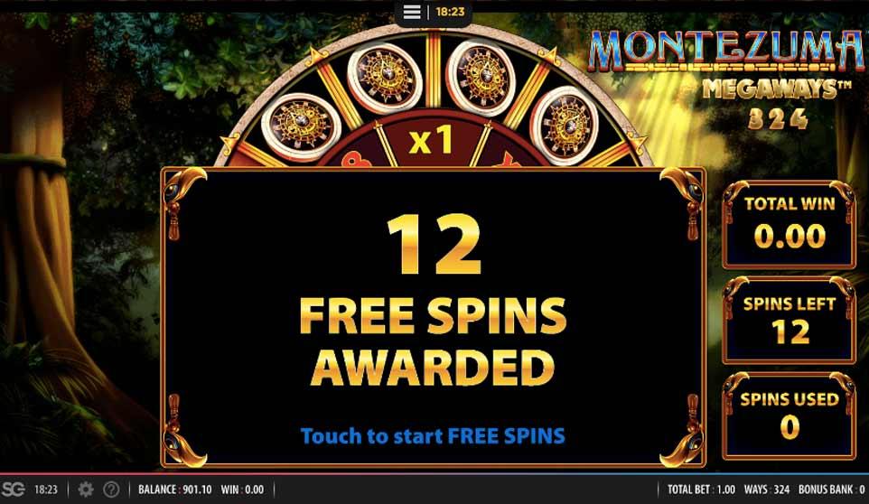 Montezuma Megaways Free Spins Awarded
