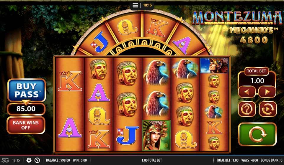 Montezuma Megaways Start Screen