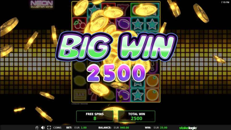 Neon Clusters Big Win