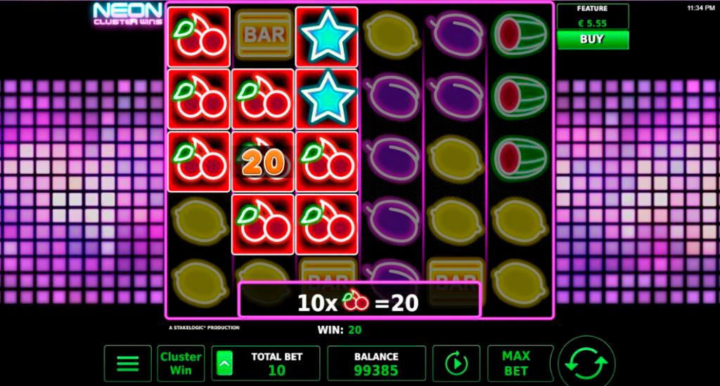 Neon Clusters Win