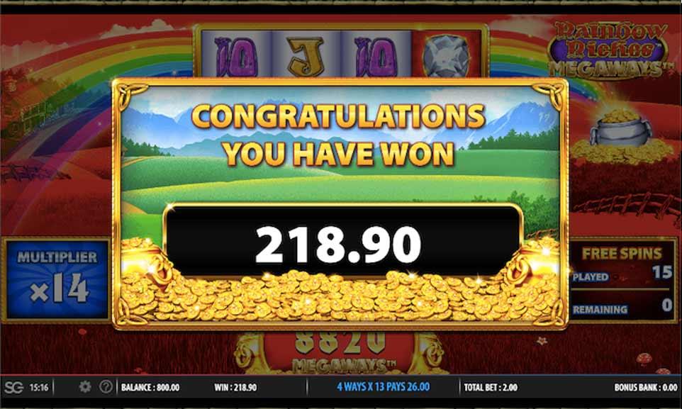 Rainbow Riches Bonus End