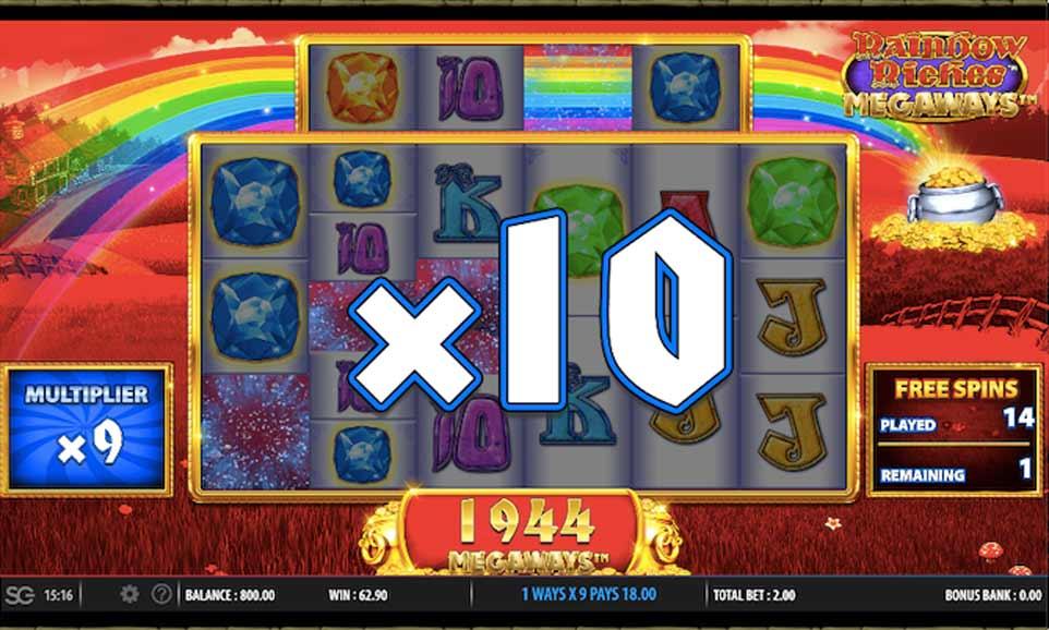 Rainbow Riches Bonus Multiplier