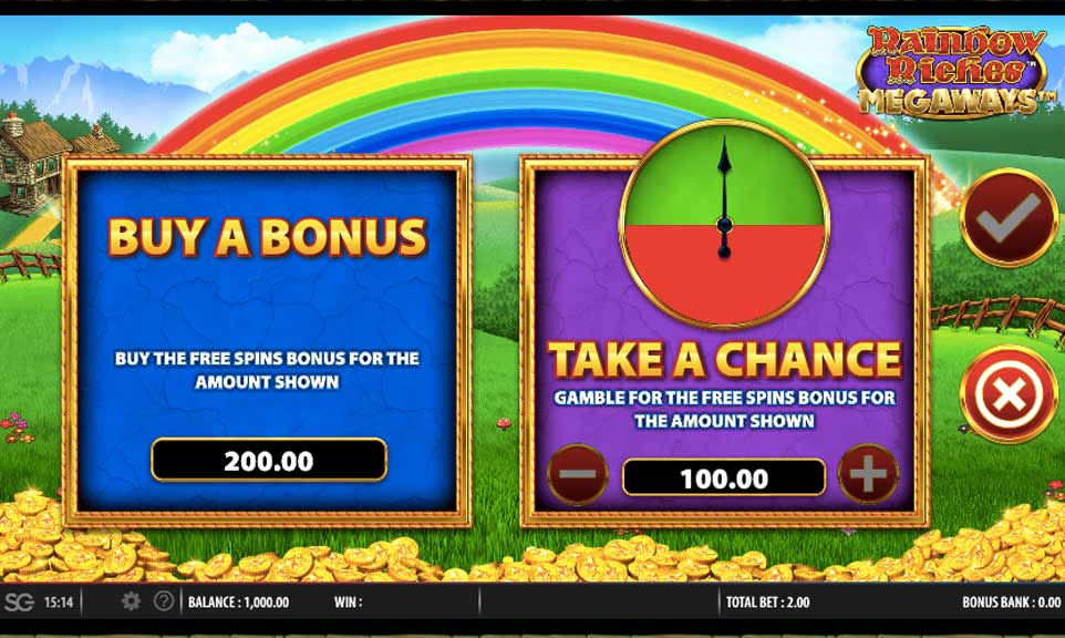 Rainbow Riches Buy Bonus