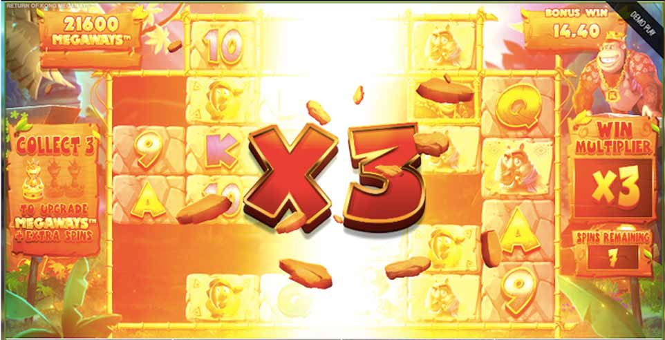 Return Kong Bonus Play Multiplier