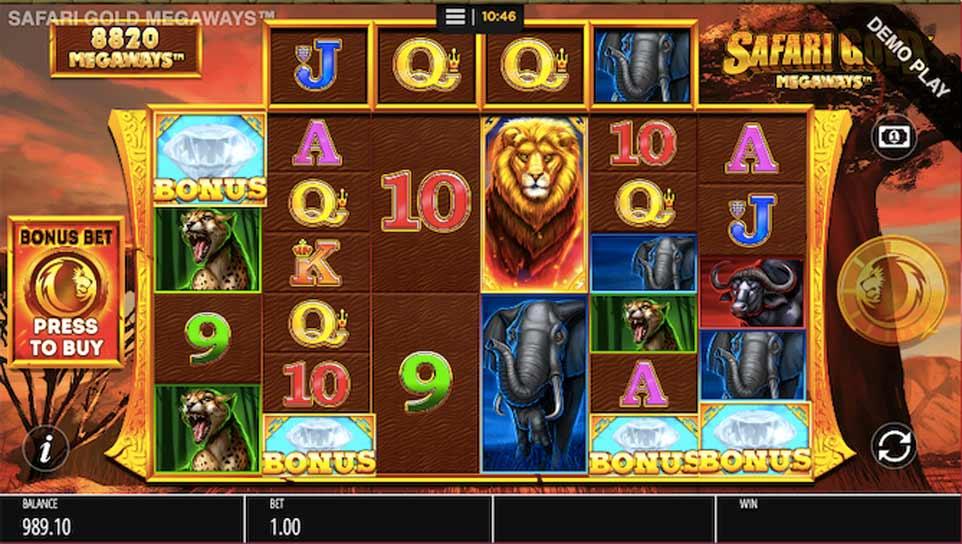 Safari Gold Bonus Activated