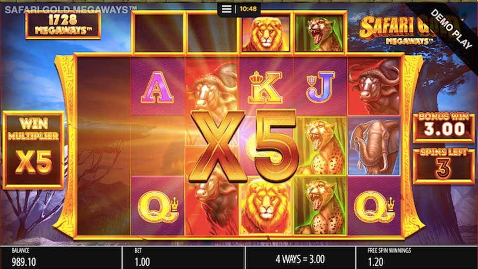 Safari Gold Bonus Play