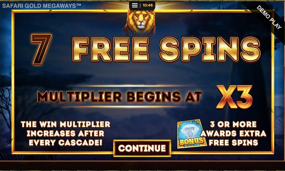 Safari Gold Bonus Start