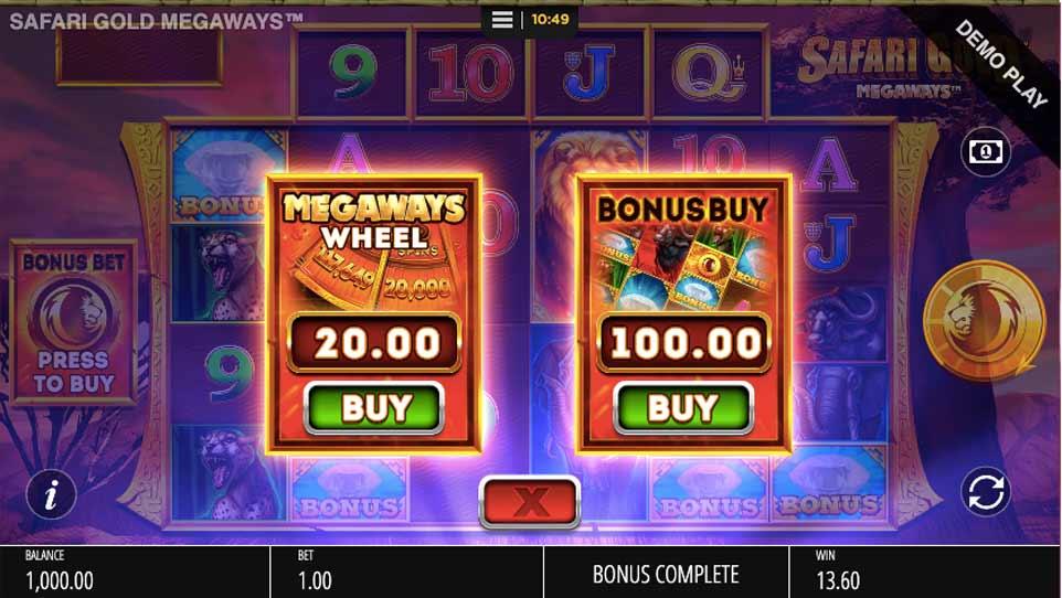 Safari Gold Buy Bonus