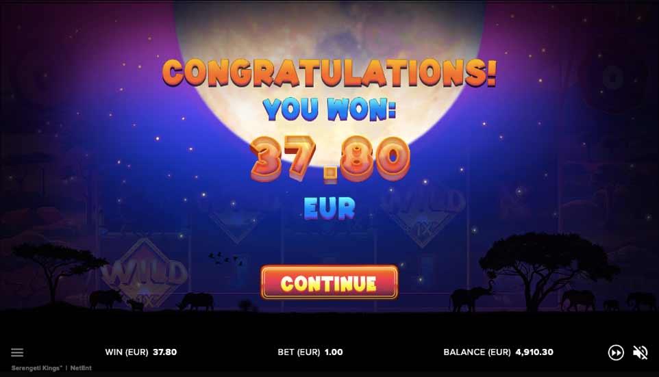 Serengeti Kings Bonus Win
