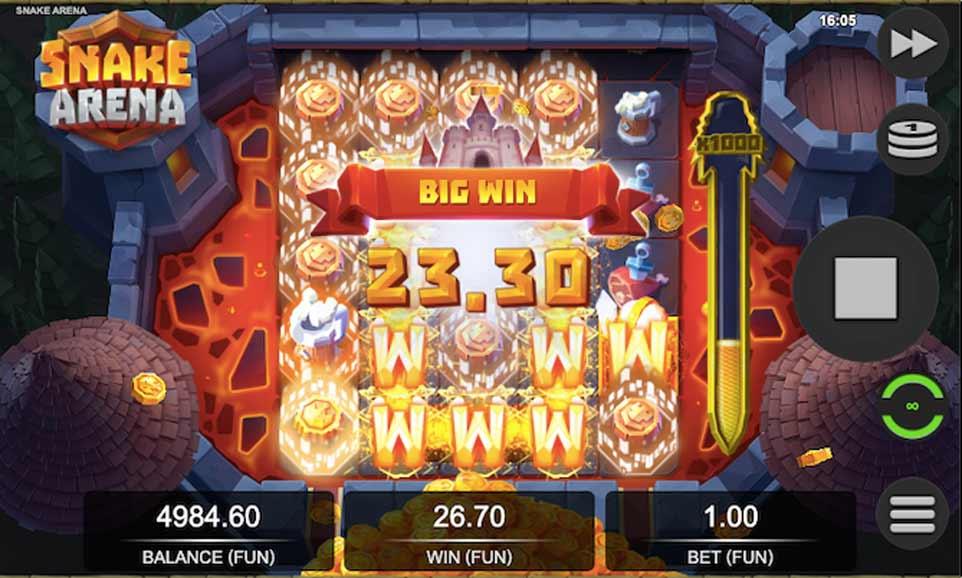 Snake Arena Bonus Big Win