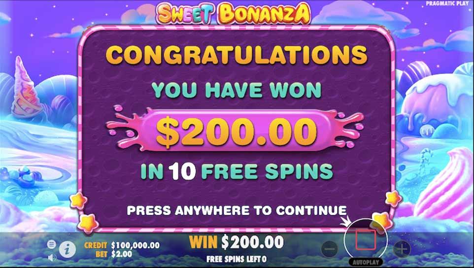 Sweet Bonanza Bonus End