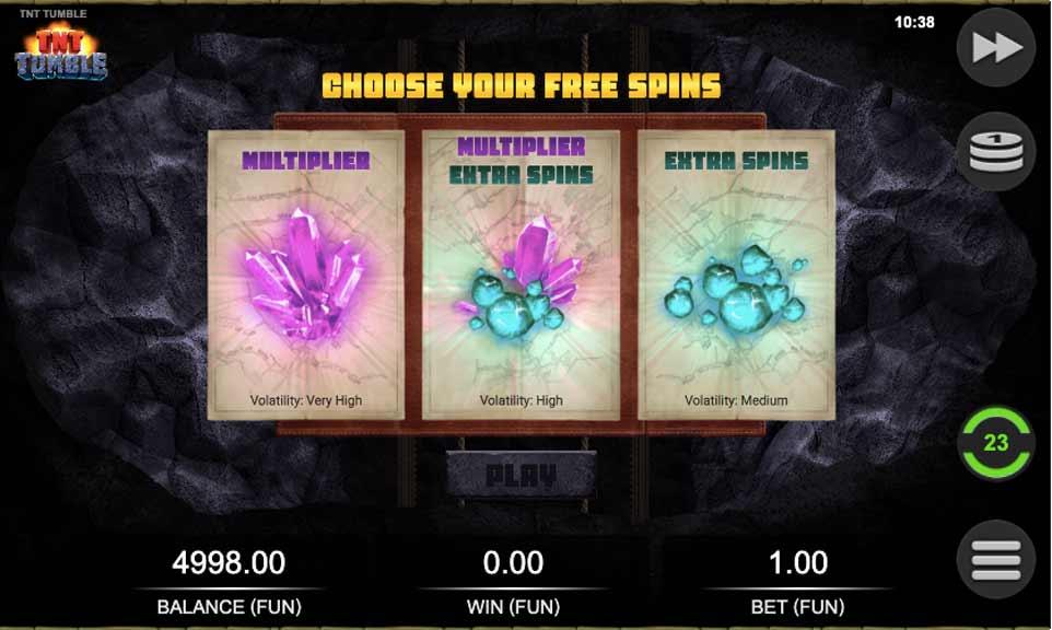 TNT Tumble Free Spins Choice