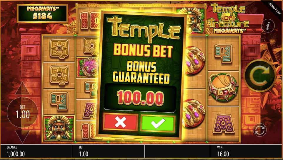 Temple Treasure Buy Bonus