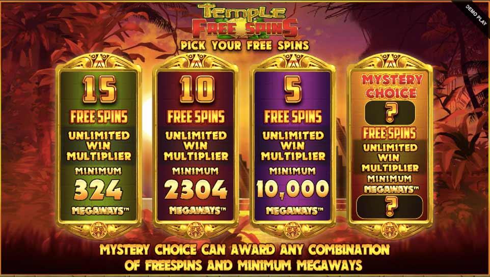 Temple Treasure Bonus Start
