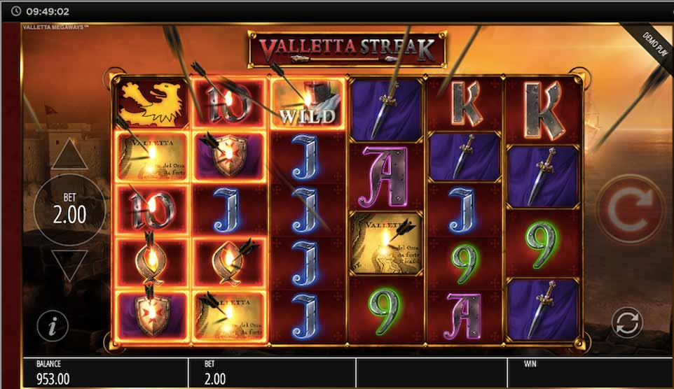 Valletta Megaways Valletta Streak Arrows