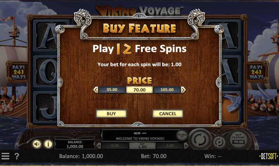 Viking Voyage Buy Bonus