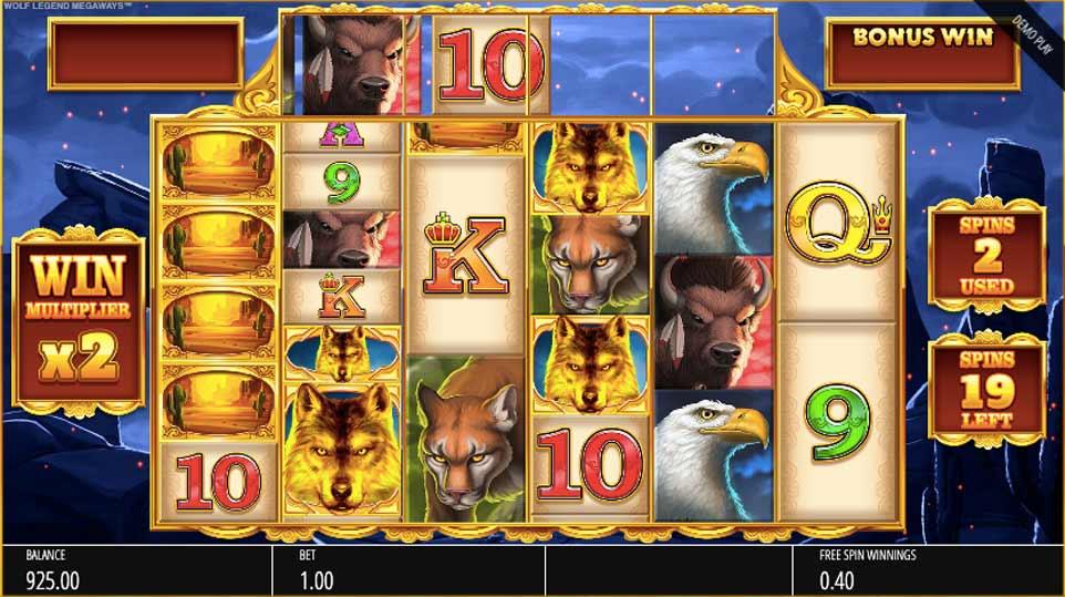 Wolf Legend Megaways Bonus