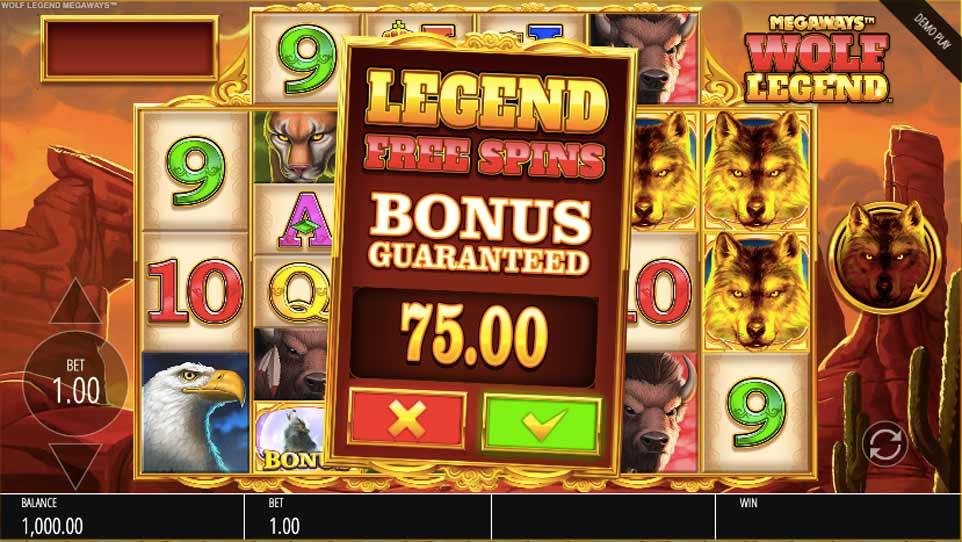 Wolf Legend Megaways Buy Bonus